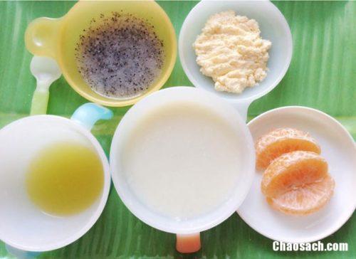 Cháo trứng hấp phomai bổ dưỡng