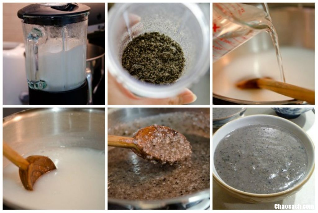 Cách làm nấu món cháo vừng đen