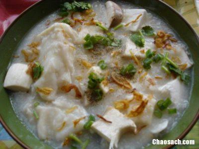 Món cháo nấm đậu phụ và cách nấu món cháo này