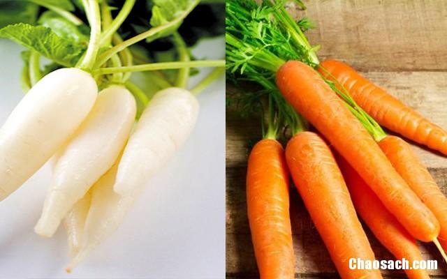 Không nấu cà rốt chung với củ cải