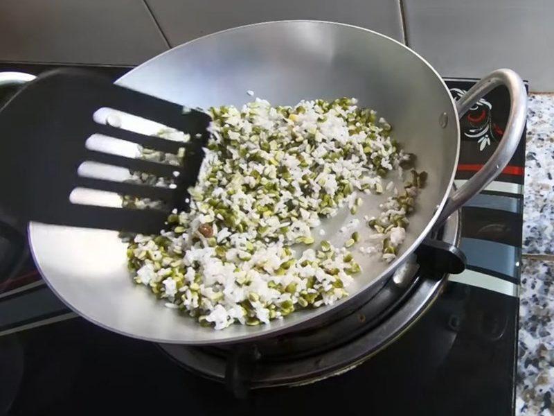 Rang gạo và đậu xanh