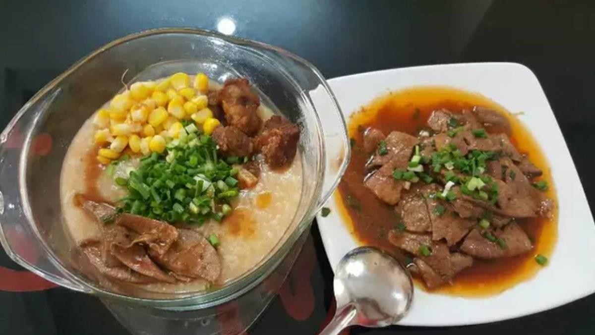 Món cháo sườn ngô đậm đà hương vị cho bữa ăn