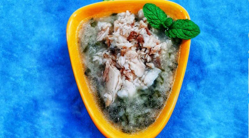 Món cháo cá bớp rong biển ngọt ngon đầy dinh dưỡng