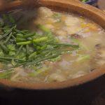 Món cháo cá khoai dân dã ấm bụng ngày mưa
