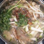 Cháo cá lóc nấu bầu nấm rơm bổ dưỡng cho cả nhà