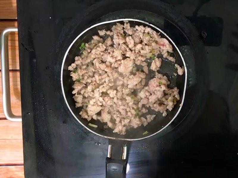 Xào thịt băm