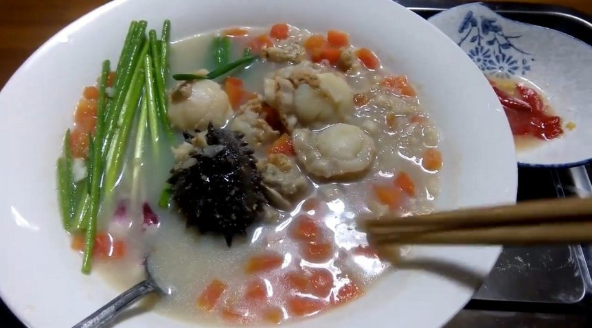 Món cháo hải sâm sò điệp giòn ngọt hấp dẫn