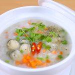 Món cháo nấm rơm thơm ngon bổ dưỡng mà bắt mắt