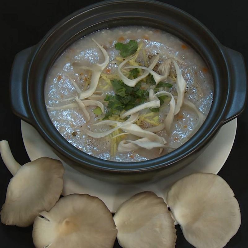 Món cháo nấm bào ngư chay thơm ngon dinh dưỡng
