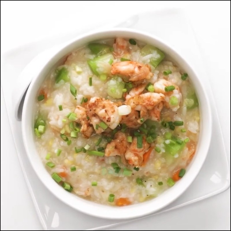 Món cháo tôm bí xanh ngon bổ dưỡng cho cả nhà