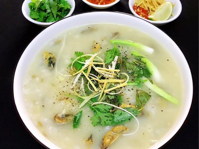 Món cháo vẹm đậu xanh ngon ngọt bổ dưỡng tại nhà