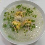 Món cháo trứng vịt lộn cải xanh thơm lừng lạ miệng