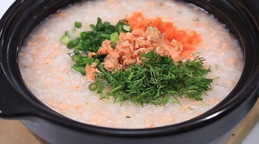 Món cháo cá hồi cà rốt giúp bổ sung các chất dinh dưỡng