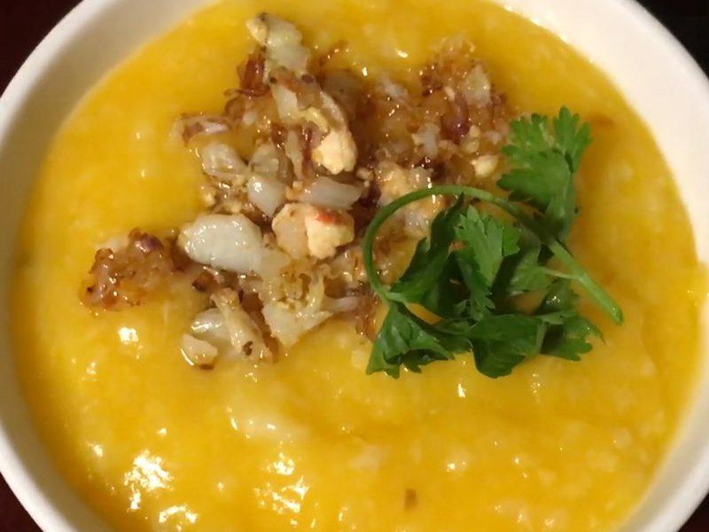 Món cháo cua cà rốt dinh dưỡng cho bé ăn dặm