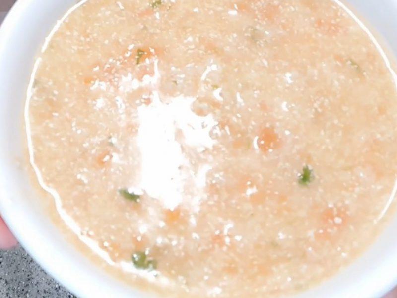 Món cháo đậu hũ cà chua thịt băm vừa ngon vừa bắt mắt