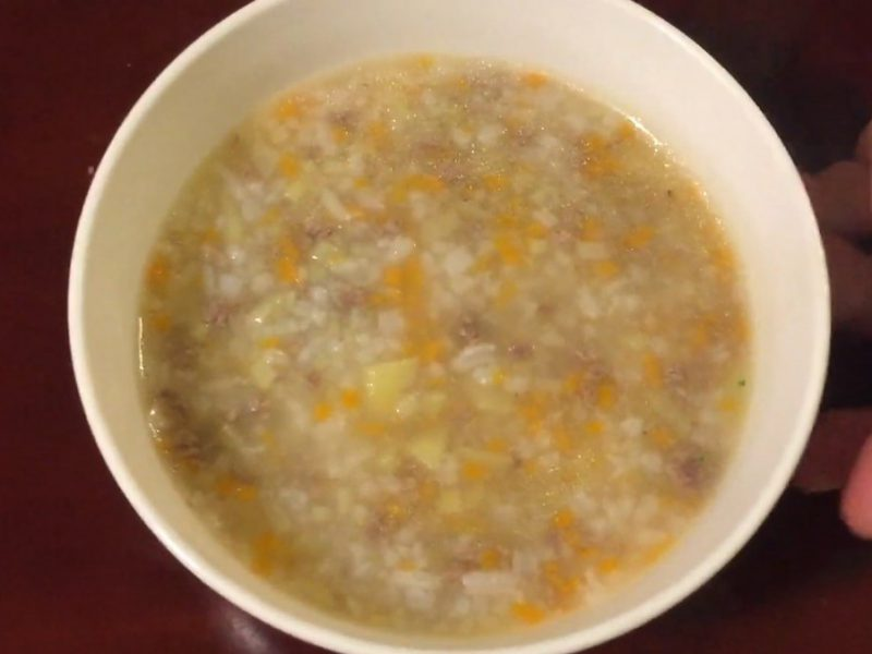 Món cháo thịt bò khoai tây ngon bổ dưỡng cho bé ăn dặm