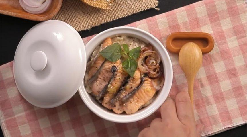 Món cháo cá hồi yến mạch cho người giảm cân tại nhà