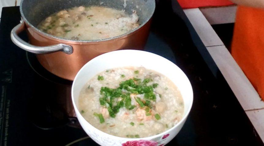 Món cháo tôm nấm rơm ngon ngọt đổi vị cho cả nhà