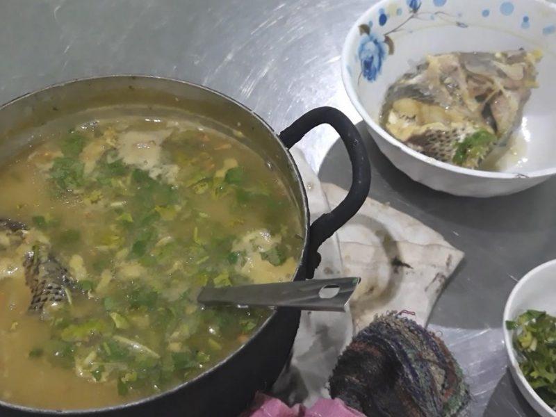 Món cháo cá rô phi kho nghệ củ nén ngon bổ dưỡng
