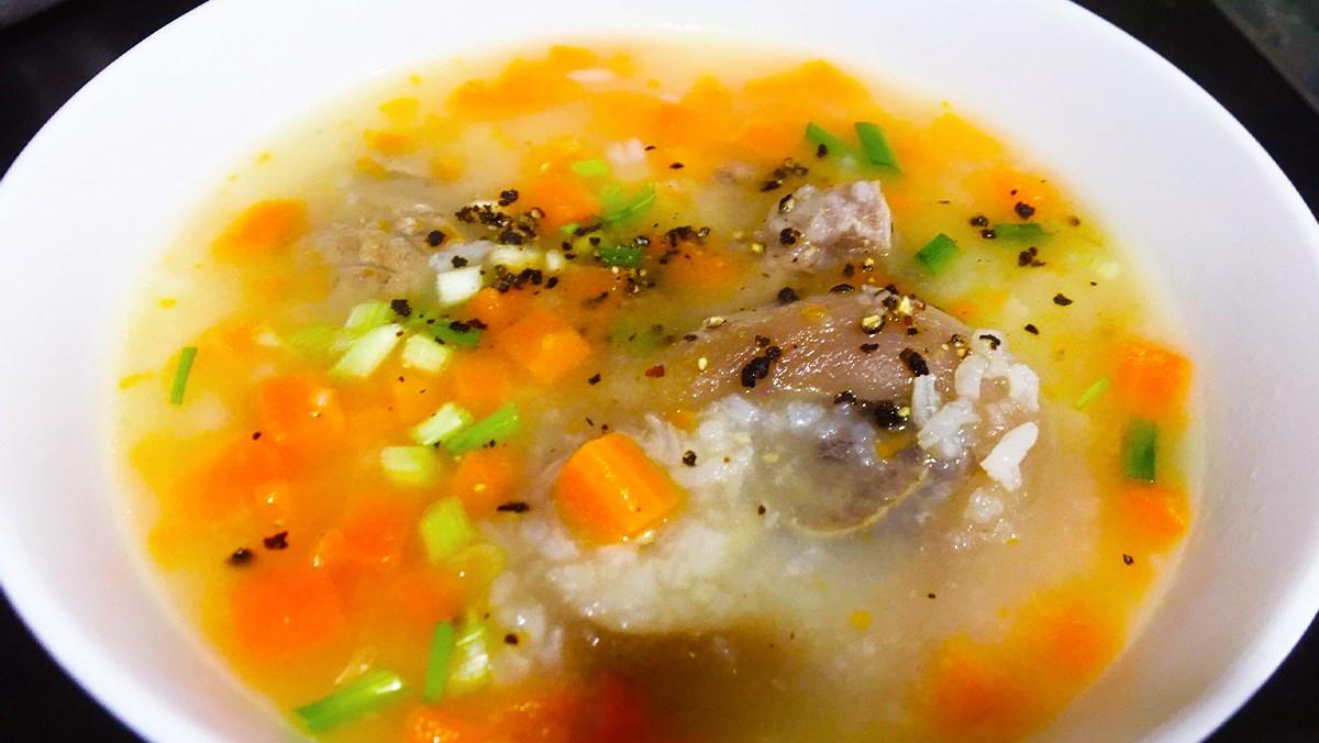 Món cháo chân giò cà rốt ngon ngọt dinh dưỡng cho bữa sáng