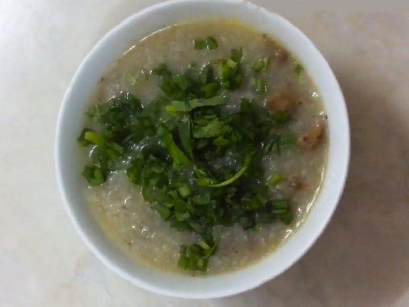 Món cháo lòng gà thơm ngon đơn giản tại nhà