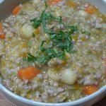 Món cháo thịt bằm rau củ hạt sen ngon hấp dẫn