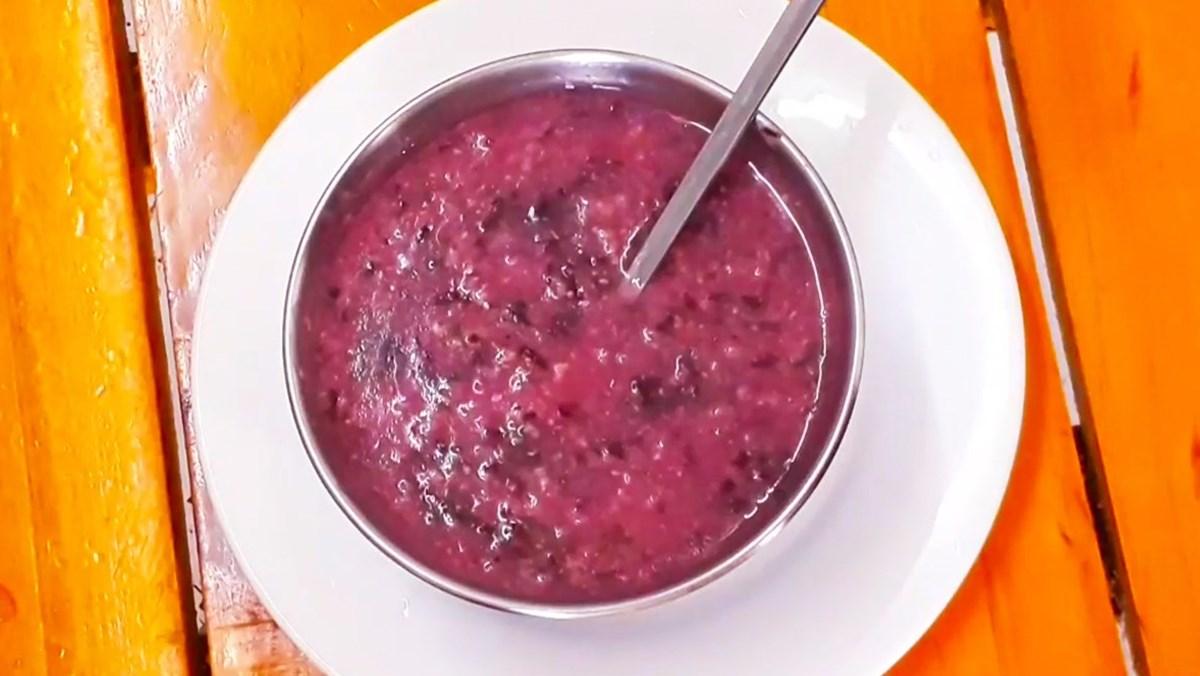 Món cháo thịt bò rau dền dễ làm cho bé ăn dặm