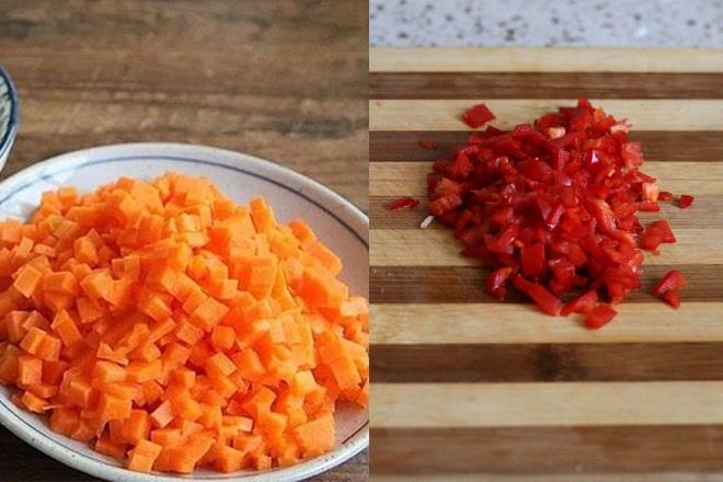 Cà rốt và ớt chương bằm nhỏ