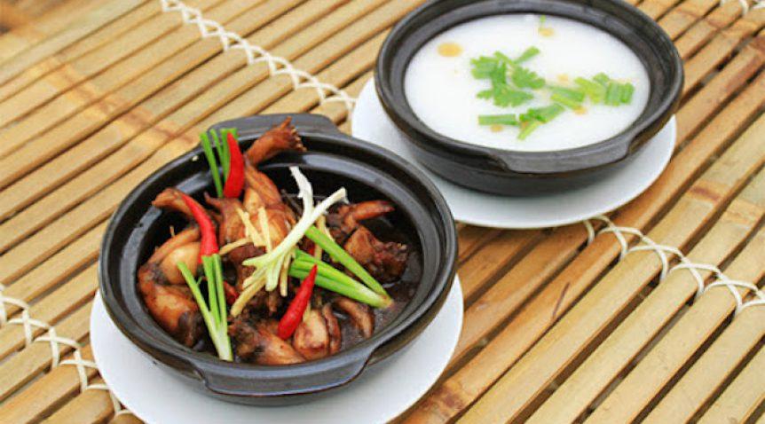 Món cháo ếch Singapore ngon chuẩn vị tại nhà