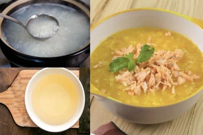 Món cháo nấu bằng nước dashi cho bé ăn dặm