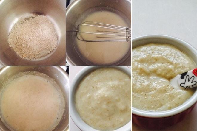 Món cháo yến mạch bằng nước dùng dashi