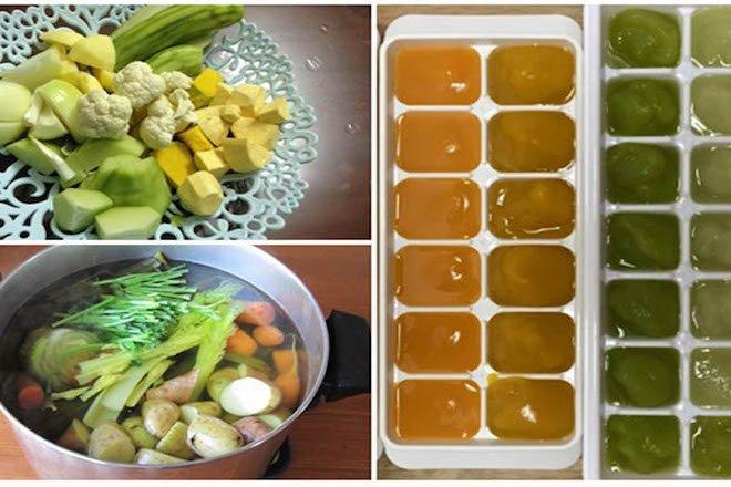 Nấu nước dashi rau củ