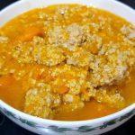 Món súp bí đỏ thịt heo vừa ngon miệng vừa bắt mắt
